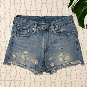 Denim Shorts with Floral Embroidery by Levi's